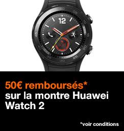 50€ remboursés sur la montre Huawei Watch 2