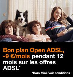 Bon plan Open sur les offres ADSL hors Mini