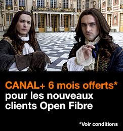 CANAL PLUS offerts pendant 6 mois pour les nouveaux clients Open Fibre