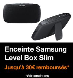 Enceinte Samsung Level Box Slim, jusqu'à 30€ remboursés, voir conditions