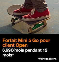 forfait Mini 5 Go à 6,99€/mois pendant 12 mois