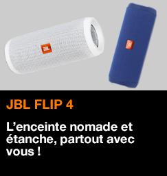 JBL Flip 4, l'enceinte nomade et étanche, partout avec vous !