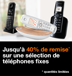 Jusqu'à 40% de remise sur une sélection de téléphones fixes, quantitées limitées