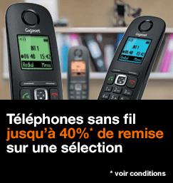 Jusqu'à 40% de remise sur une sélection de téléphones sans fil, voir conditions
