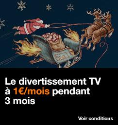 Le divertissement TV à 1 euro par mmois pendant 3 mois