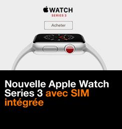 Nouvelle Apple Watch Series 3 avec SIM intégrée