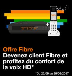 Offre Fibre : Devenez client Fibre et profitez du confort de la voix HD