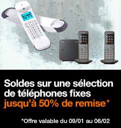 Soldes sur une sélection de téléphones fixes
