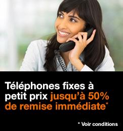Téléphones fixes à petit prix, jusqu'à 50% de remise immédiate, voir conditions