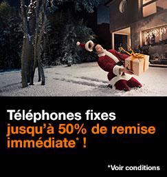 Téléphones fixes, jusqu'à 50% de remise immédiate, voir conditions