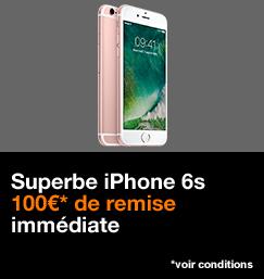 Vente Flash iPhone 6s avec 100€ de remise