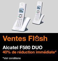 Vente Flash sur le duo Alcatel F580 : 40% de réduction immédiate !