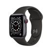 Apple Watch Series 6 Cellular 40mm alu gris sidéral bracelet sport noir