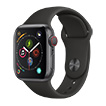 Apple Watch Series 4 4G 40mm alu gris sidéral bracelet sport noir