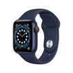 Apple Watch Series 6 Cellular 40mm alu bleu bracelet sport bleu