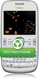 nokia asha 302 blanc reconditionn mails appareil photo radio fm orange mobile. Black Bedroom Furniture Sets. Home Design Ideas
