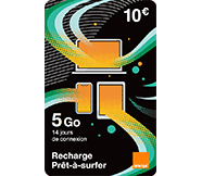Recharge internet Let's go 5 Go