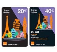 Orange Holiday : the european prepaid plan
