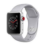 Acheter Apple Watch Series 3 Cellular 38mm alu argent bracelet nuage