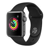 Acheter Apple Watch Series 3 38mm alu gris sidéral bracelet noir