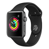 Acheter Apple Watch Series 3 42mm alu gris sidéral bracelet noir
