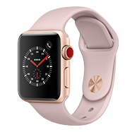 Acheter Apple Watch Series 3 4G 38mm alu or bracelet rose des sables