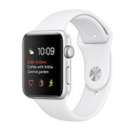 Acheter Apple Watch Series 1 boitier 38mm aluminium argent bracelet sport blanc