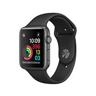 Acheter Apple Watch Series 1 boitier 42mm aluminum gris sidéral bracelet sport noir