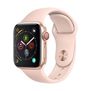 Acheter Apple Watch Series 4 4G 40mm alu or bracelet sport rose des sables