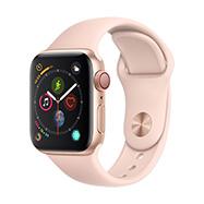 Acheter Apple Watch S4 4G boîtier 40 mm aluminium or bracelet sport rose des sables