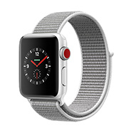 Acheter Apple Watch Series 3 4G 38mm alu argent bracelet coquillage