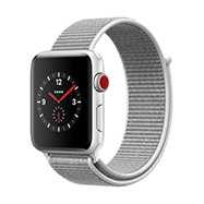 Acheter Apple Watch Series 3 4G 42mm alu argent bracelet coquillage
