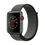 Acheter Apple Watch Series 3 4G 42mm alu gris sidéral bracelet olive