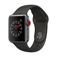 Acheter Apple Watch Series 3 4G boîtier 38 mm aluminium gris sidéral bracelet sport gris