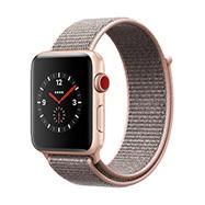 Acheter Apple Watch Series 3 4G boîtier 42 mm aluminium or bracelet rose des sables