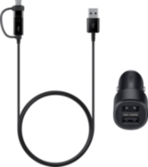Acheter Chargeur Allume-Cigare Samsung et câble Combo Micro-USB et USB-C