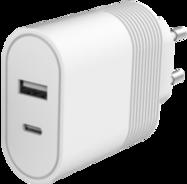 Acheter Chargeur Secteur Bigben Ultra-Rapide 2 ports USB-A 12W et USB-C 20W