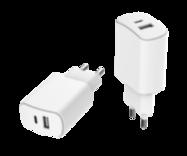 Acheter Chargeur Secteur Just Green 2 ports USB-A et USB-C