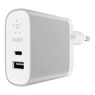 Acheter Chargeur secteur rapide Belkin 2 ports USB-C et USB-A