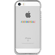 Acheter Coque Qdos édition spéciale pour iPhone SE transparente