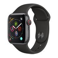 Acheter Apple Watch Séries 4 4G 40 mm boitier gris bracelet Sport noir