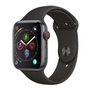 Acheter Apple Watch Series 4 4G boîtier 44 mm gris bracelet sport noir