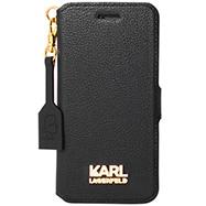 Acheter Etui à rabat Grainy Gold Karl Lagerfeld iPhone 7
