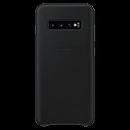 Acheter Coque cuir Samsung Galaxy S10+ Noir
