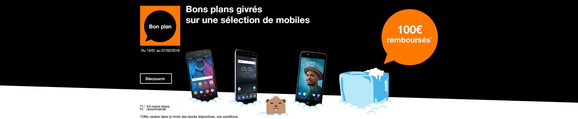 100 euros remboursés sur 3 mobiles