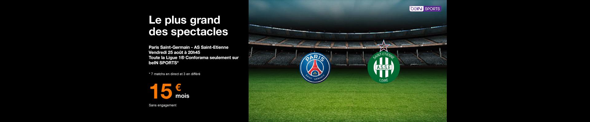 PSG Saint-Etienne sur beIN