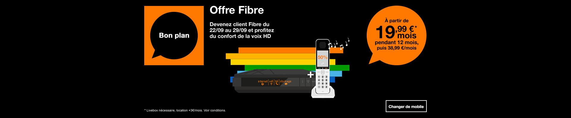 bon plan fibre + téléphone fixe