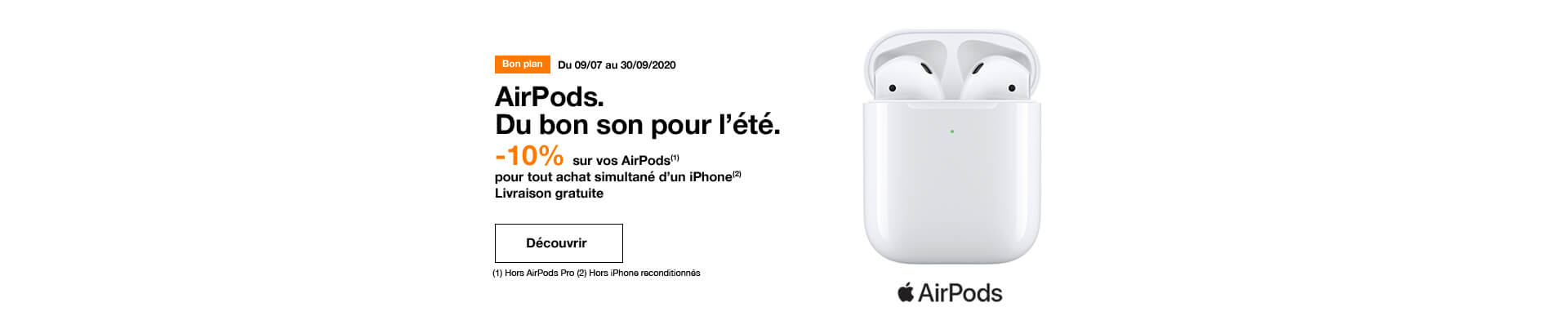 iPhone et Airpods
