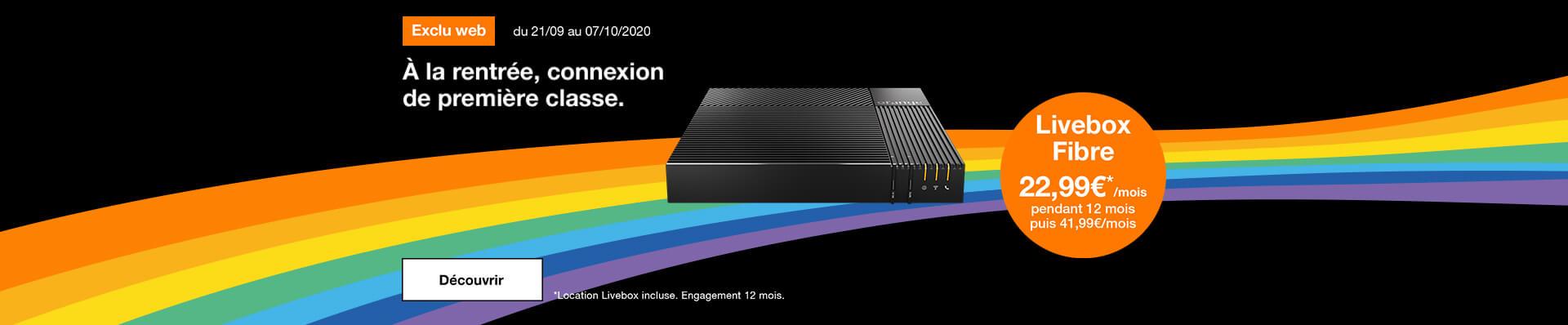 Bon plan Livebox Fibre exclu web
