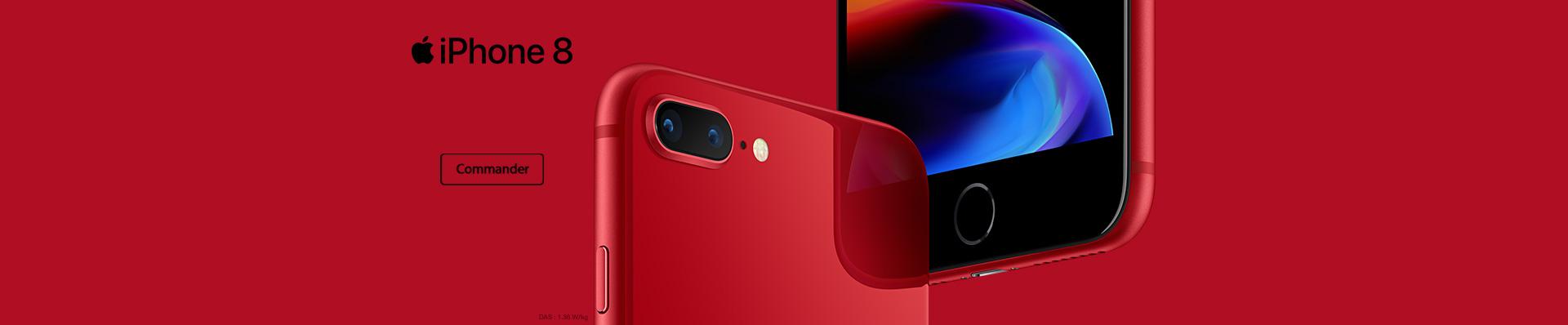 L'iPhone 8 et 8 plus RED